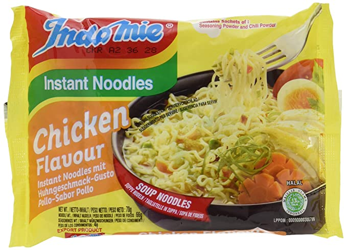 nudels mie  Indo Mie Chicken Noodles 70 g (Pack of 40): : Informatica