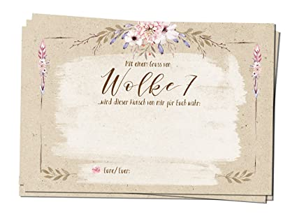 25 Ballonflugkarten für zur Hochzeit Country Flowers rustikal leichte Flugkarten für weiten Flug/gelocht wetterfest Luftballo