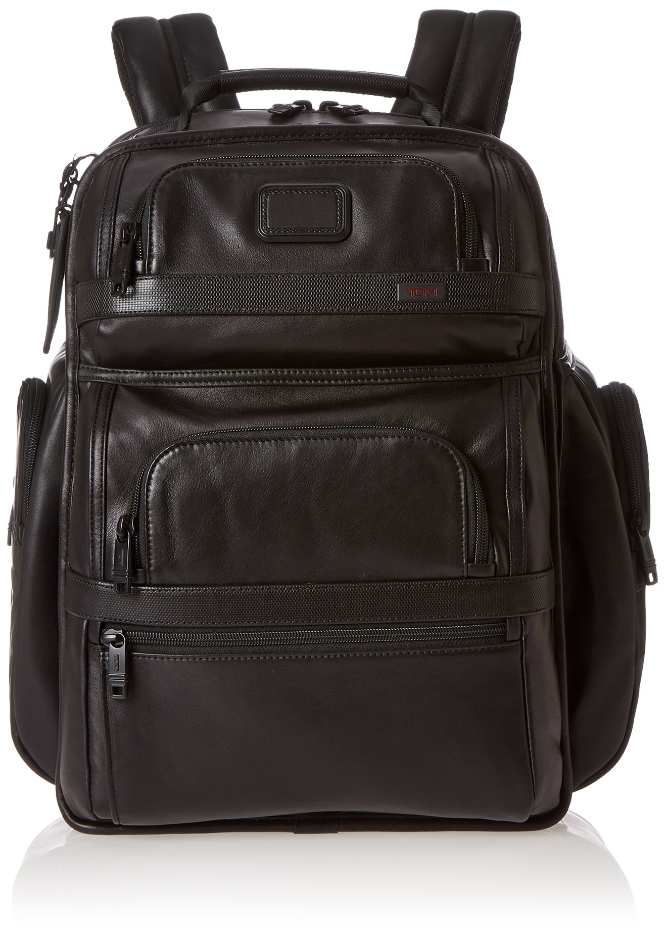 Tumi Alpha 2 T-Pass Business Class Leather Brief Pack, Black, One Size by Tumi