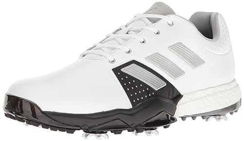 the best attitude bee8d f9f35 Adidas Men s Adipower Boost 3 Golf Shoe, White SilverMetallic CoreBlack, 8 M