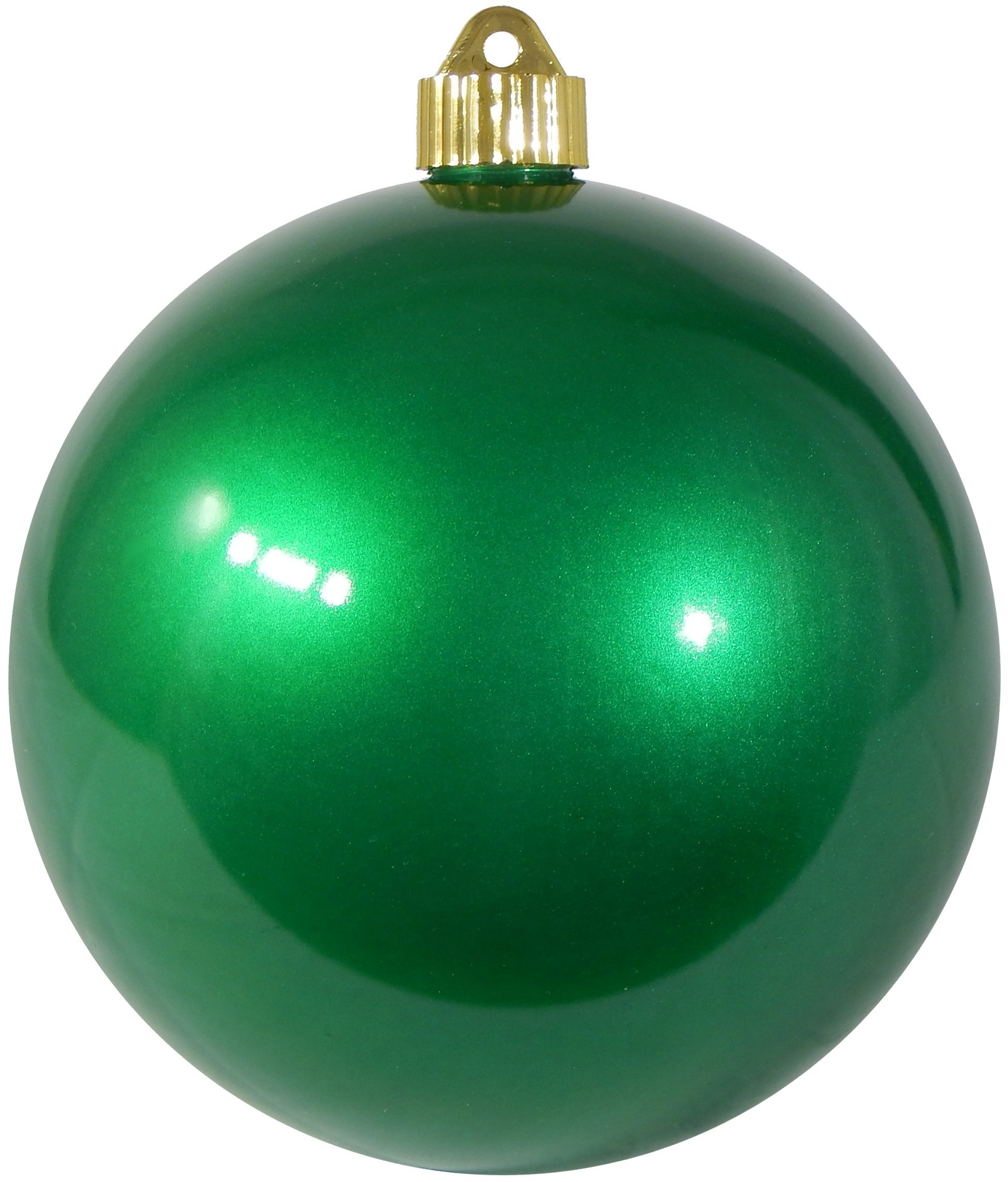 Christmas By Krebs CBK72978 Shatterproof UV-Resistant Christmas Ball Ornaments 6'' Candy Green 12 Piece