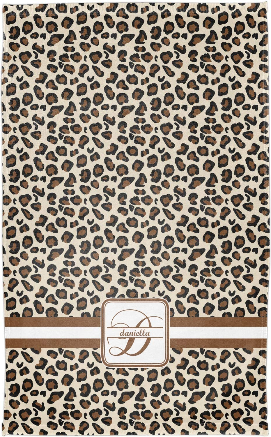 Full Print YouCustomizeIt Leopard Print Finger Tip Towel Personalized