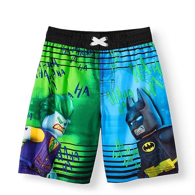 d21512a560a Amazon.com: LEGO DC Comics Batman and Joker Boys Boardshort Swim ...