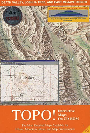Death Valley Elevation Map.Amazon Com Topo Interactive Maps On Cd Rom Death Valley Joshua