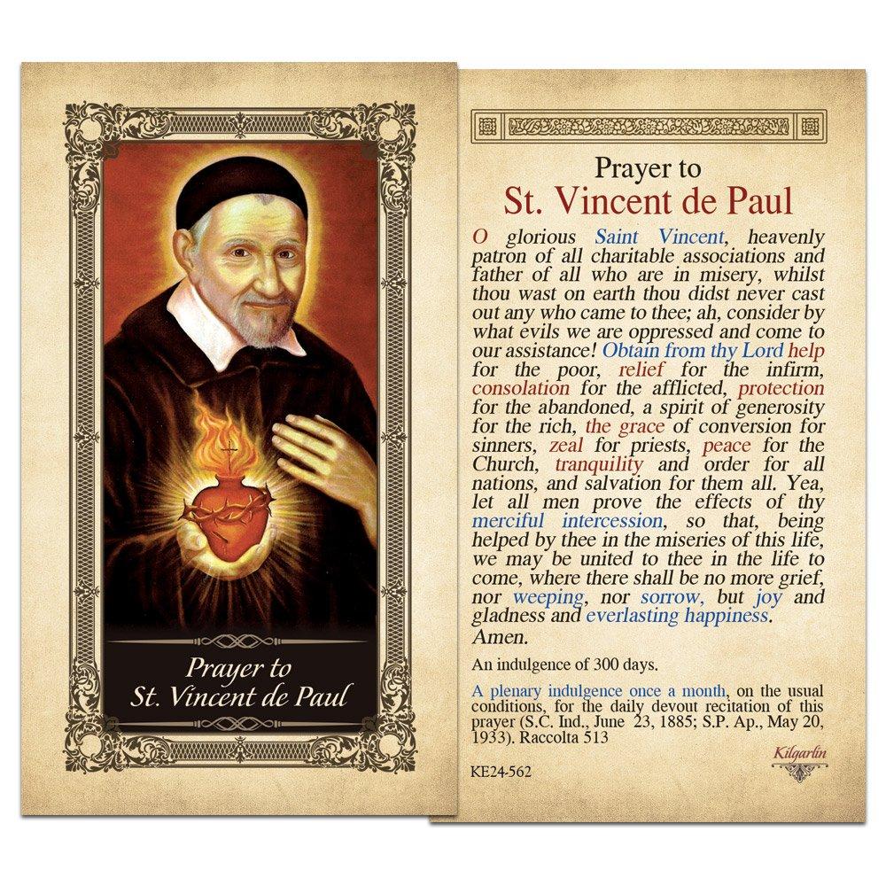 St. Vincent de Paul Laminated Holy Card