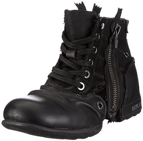 REPLAY Clutch, Men's Biker Boots, Black, 10 UK (44 EU)