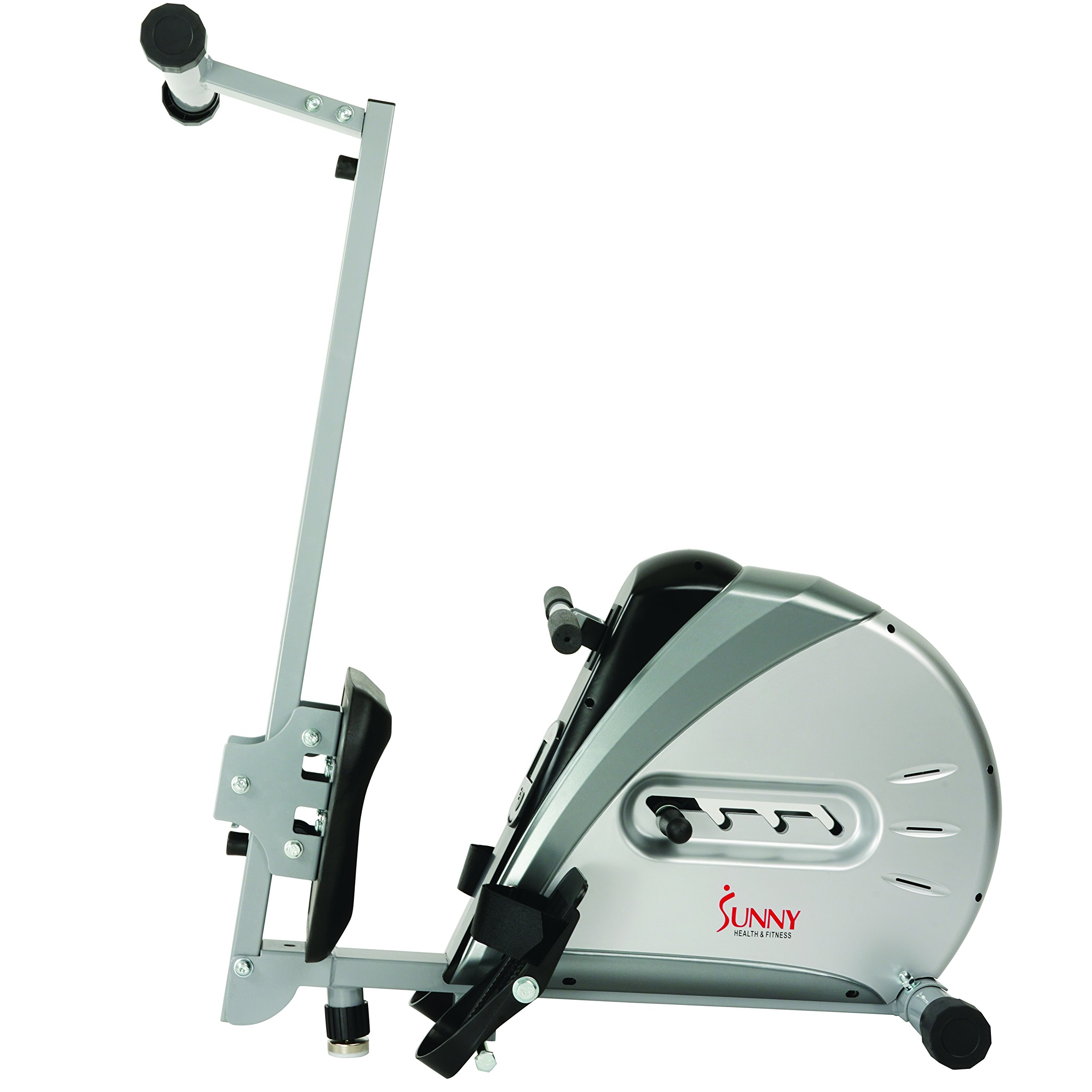 Sunny Health & Fitness Rowing Machine Rower Ergometer with Durable Elastic Cord, Digital Monitor, Inclined Slide Rail and Foldable -  SF-RW5606 by Sunny Health & Fitness (Image #6)