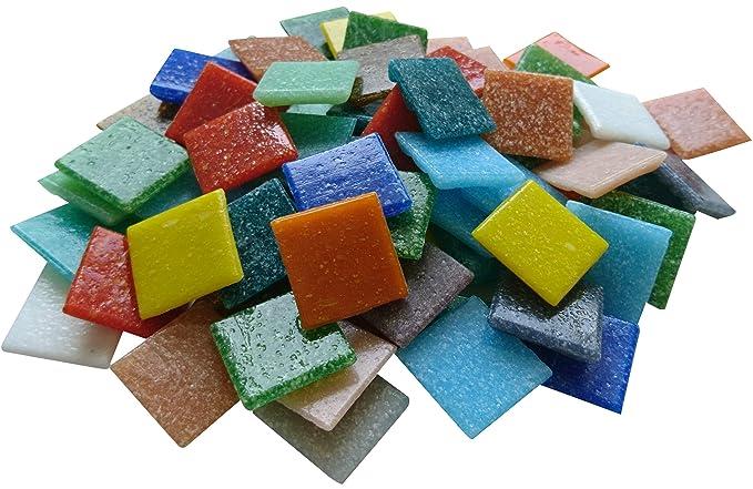 bunt gemischt NEU Mosaiksteine 2x2cm Eimer 1kg