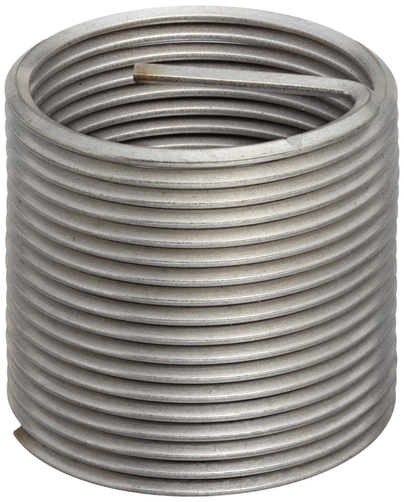 E-Z Lok Threaded Insert, 18-8 Stainless Steel, Helical, 1/4''-28 Internal Threads, 0.500'' Length (Pack of 10)