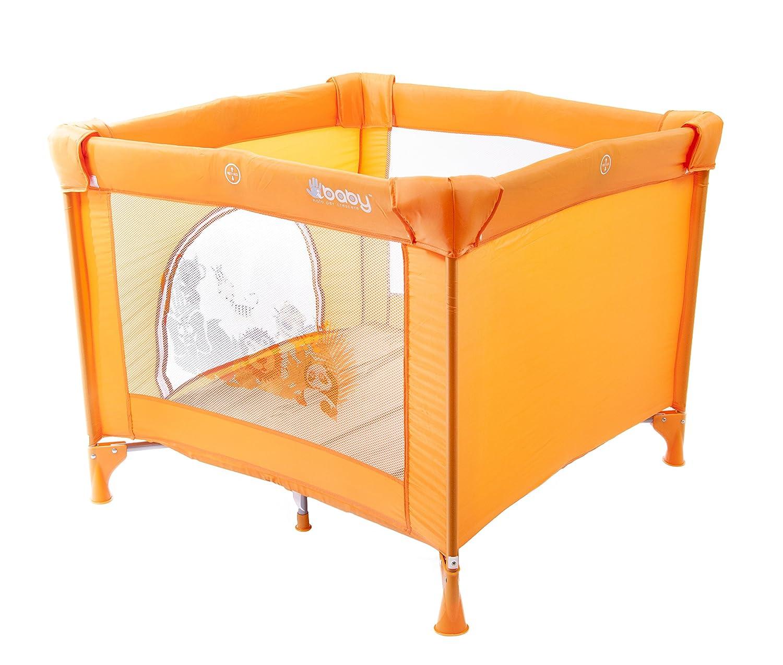 BOX PER GIOCO E NANNA con finestra - campeggio viaggio lettino quadrato box (arancio) iBaby