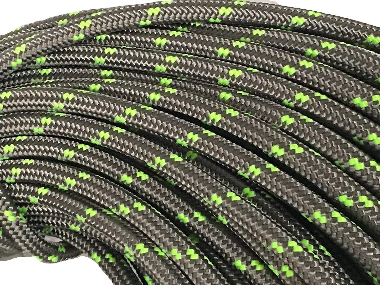 1/2'' Arborist Rigging Double Braided Rope, Platinum (100')