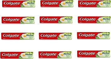COLGATE Pasta de dientes Herbario Clasico Con Sales Minerales 75 Ml, pack de 12: Amazon.es: Salud y cuidado personal