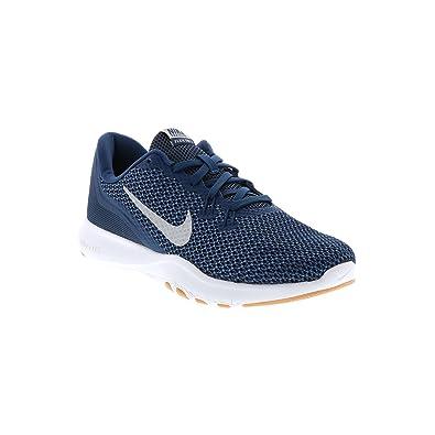 8b7caa9e97b41 Nike Women's Flex Trainer 7 Cross Trainers Navy/Metallic Silver Size 6.5