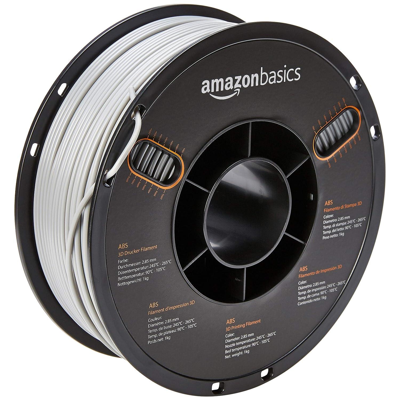 AmazonBasics - Filamento de ABS para impresora 3D, 2,85 mm, Gris ...