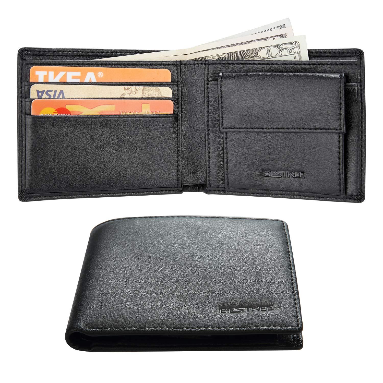 Portefeuille Homme Cuir, Porte Carte RFID Slim Porte Carte de Credit pour Homme