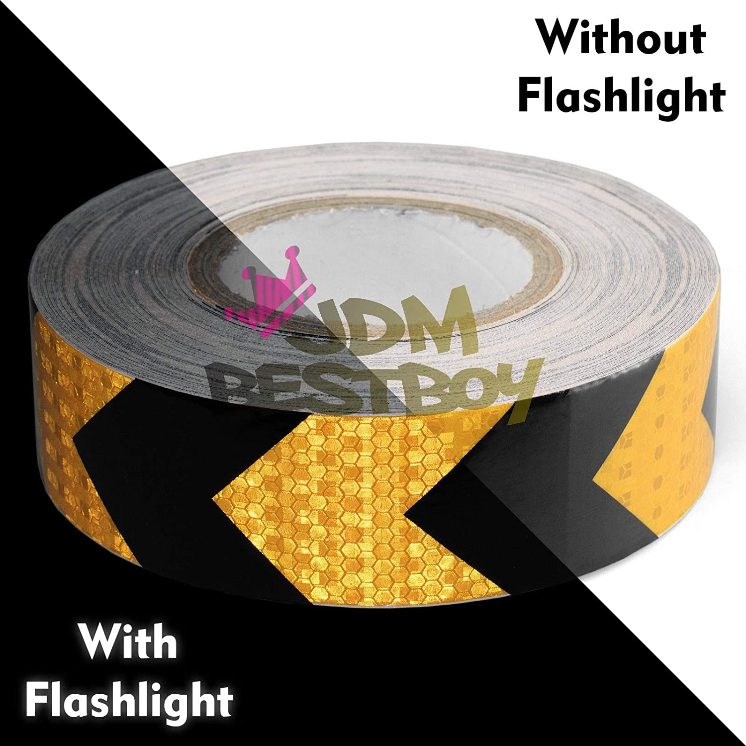 JDMBESTBOY Free Tool Kit Neon Yellow DOT-C2 Approved 2 Inch x150 Foot Reflective Safety Tape Warning Caution Adhesive Conspicuity Marking Decal Sticker Roll Truck RV Trailer Boat ATV Construction
