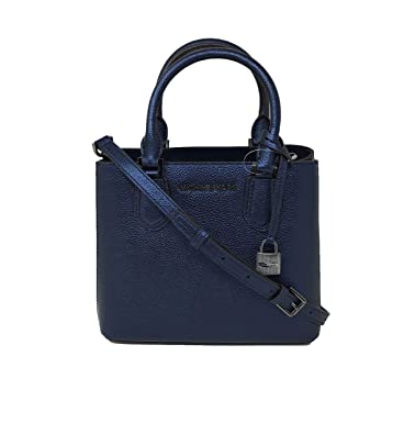 8eb2676416e0 Image Unavailable. Image not available for. Color  Michael Kors Adele MD Leather  Messenger ...