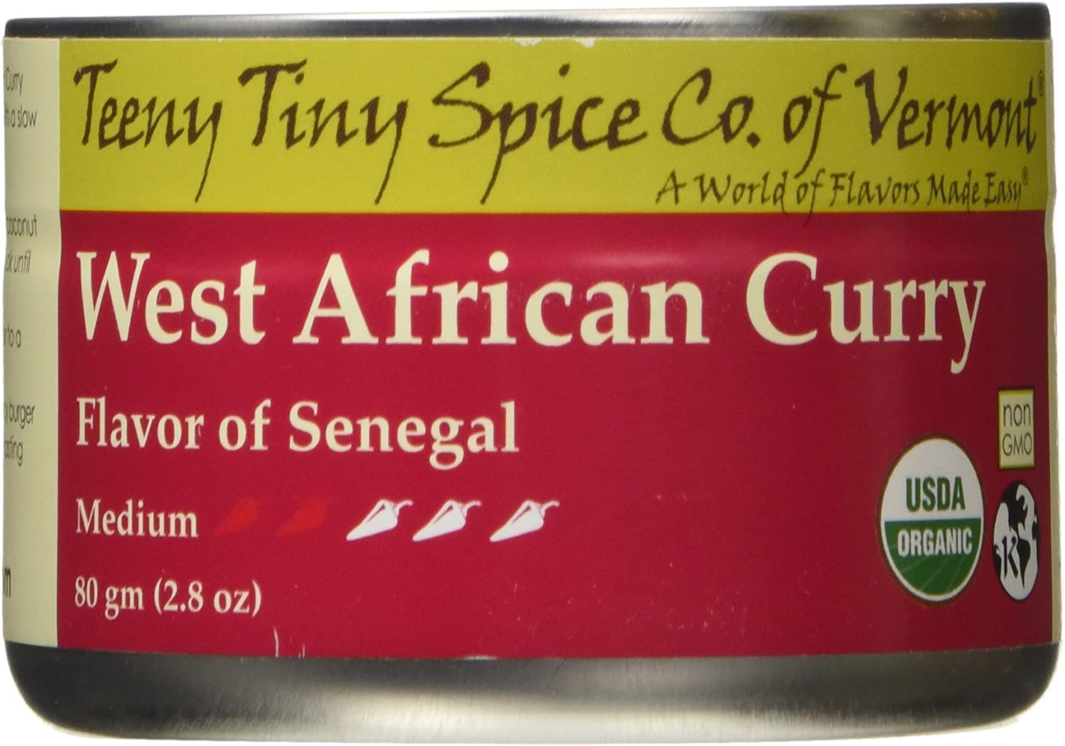Teeny Tiny Spice Co of Vermont Organic West African Curry, 2.8 Oz
