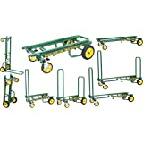 "Rock-N-Roller R2RT-GR (Micro) 8-in-1 Folding Multi-Cart/Hand Truck/Dolly/Platform Cart/26"" to 39"" Telescoping Frame/350 lbs. Load Capacity, Green"