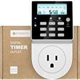 Etekcity Light Timer Outlet, Electrical Digital Plug in Heavy Duty with Back Light, 7 Day 20 Settings Programmable, 5610 Joules Surge Protection, Easy to Set Up, 15A/1800W