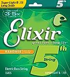 Elixir Bass Custom 5th & 6th String Singles Ultra-Thin Nanoweb Coating Long Scale - 5th Super Light B (0.125)