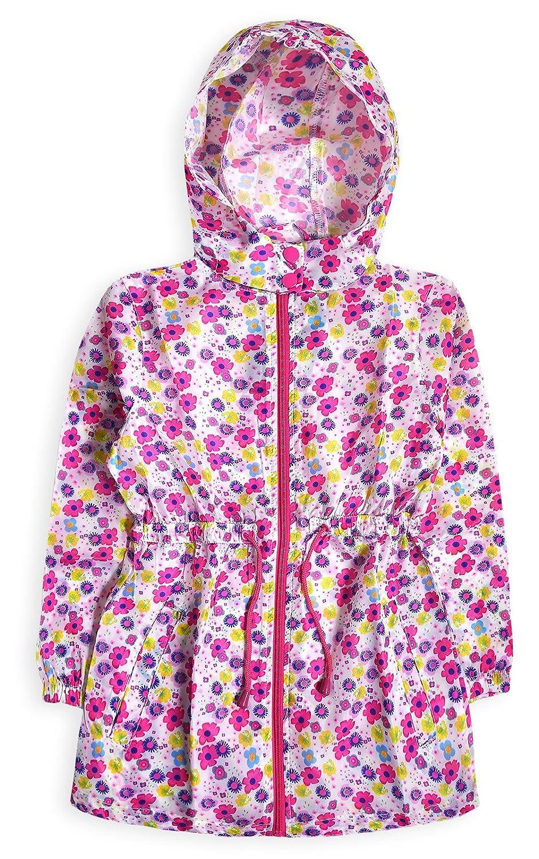 Generic Girls Lightweight Printed Water Resistant Hooded Jacket