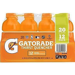 Gatorade Original Thirst Quencher,Orange, 20 ounce, 12 count