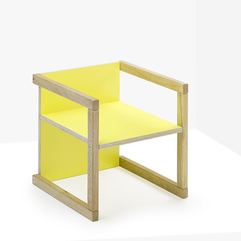 Seggiolino per bambini jynx, Giallo, seduta regolabile in 3Livelli wendbarer Sedia per Bambini, utilizzabile anche come sgabello e da tavolo Daniel Hahnemann 100