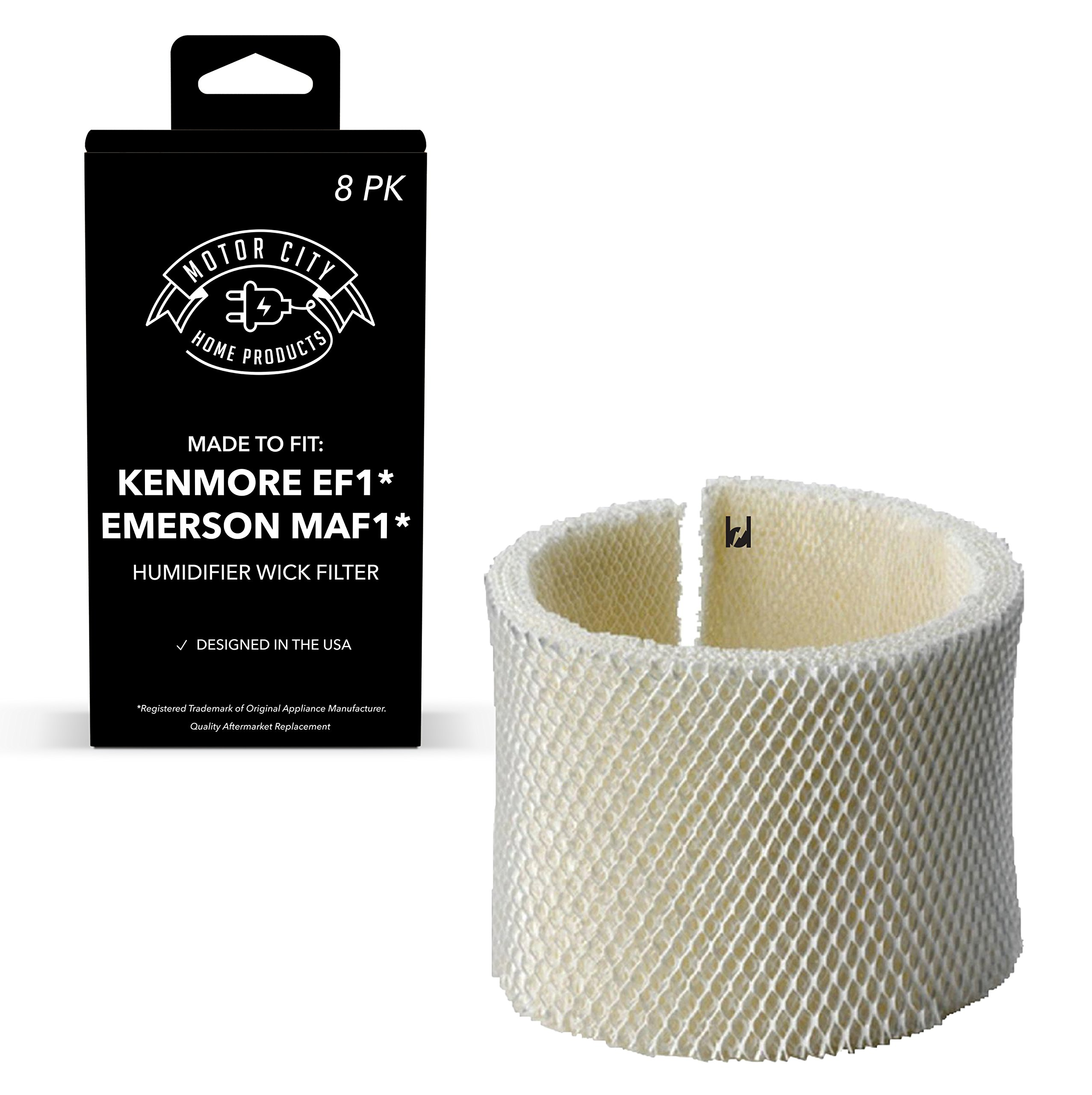Kenmore EF1 and Emerson MAF1 Compatible Humidifier Wick Filter Motor City Home Products Brand Replacement (8)