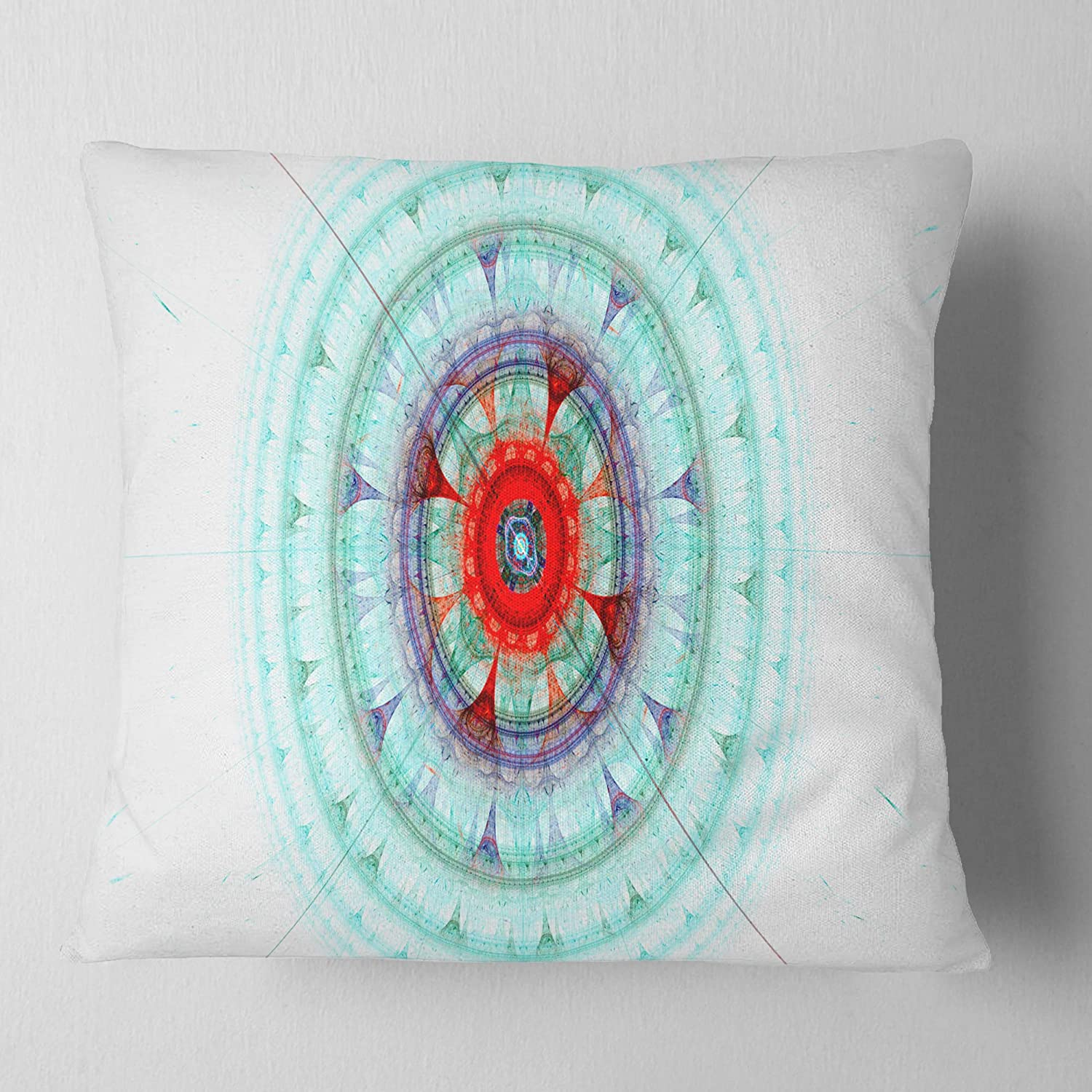 Designart CU16104-16-16 Light Blue Fractal Sphere Abstract Cushion Cover for Living Room Insert Printed on Both Side in x 16 in Sofa Throw Pillow 16 in