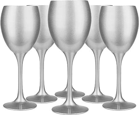 Sables & Reflets 6 Verres à vin teintés Argent Verre à vin