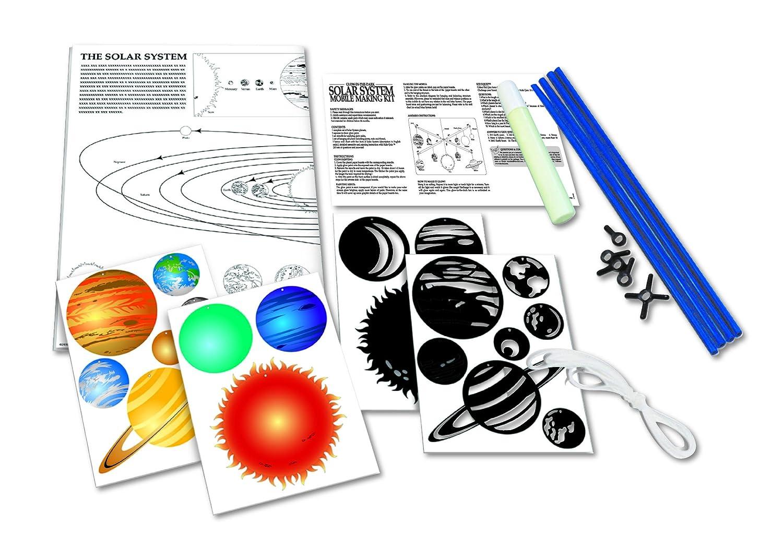 amazon com 4m glow in the dark solar system mobile making kit