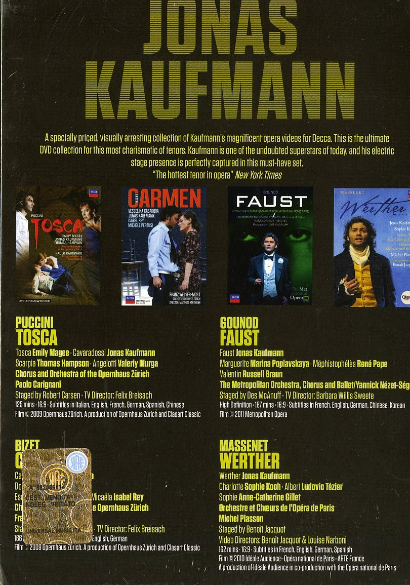 Puccini, Bizet, Gounod, Massenet [DVD]: Amazon.es: Jonas Kaufmann, Varios: Cine y Series TV