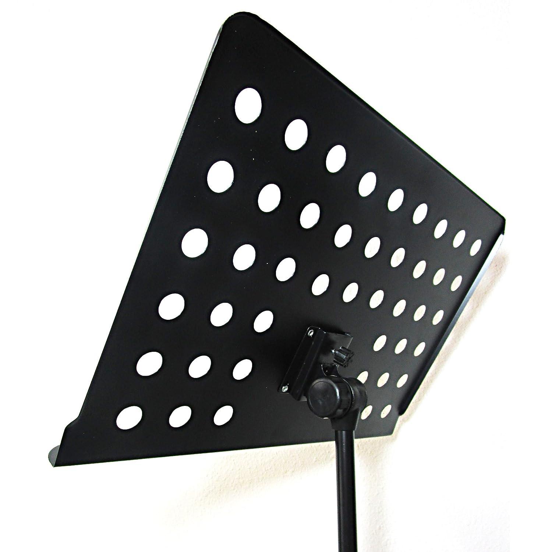 kruzco portable music stand for sheet holder black