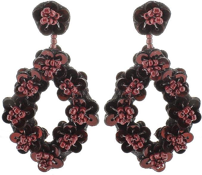 Cranberry Red Pearl Earrings Burgundy Wedding Earrings Burgundy Bridesmaid Earrings Burgundy Drop Earrings Burgundy Freshwater Pearls