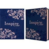 Inspire Bible NLT (Hardcover LeatherLike, Navy): The Bible for Coloring & Creative Journaling