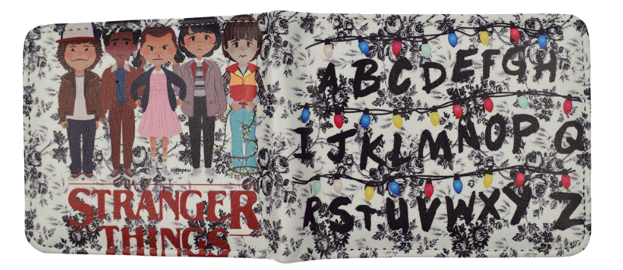 Stranger Things Wallet Bi-Fold Mens Boys NETFLIX TV Series Eleven Movies Cartoon Logo Theme Premium Quality Detailed Cosplay Gift Series