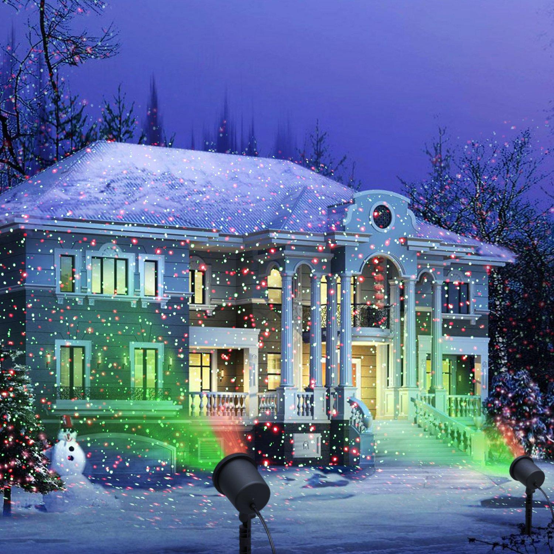 amazoncom decolighting star laser christmas light show outdoor decorations waterproof landscape lighting garden outdoor - Christmas Outdoor Lighting