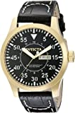 Invicta Men's 11190 Specialty Black Dial Black Leather Watch