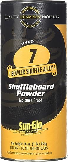 Sun-Glo 3 Pack 7 Speed Shuffleboard Powder - Best Slow-Speed Shuffleboard Wax