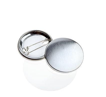 500 Stück 38 mm Buttonrohlinge Ansteckbuttons mit Sicherheitsnadel Badgematic Sammeln & Seltenes