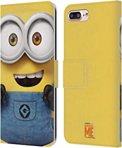 Head Case Designs Officially Licensed Despicable Me Bob Full Face Minions Leather Book Wallet Case Cover Compatible with Apple iPhone 7 Plus/iPhone 8 Plus