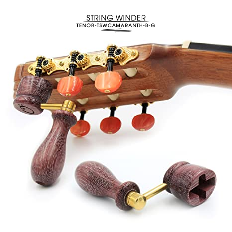ddc49cc764  quot AMARANTH quot  Handcrafted Wooden Guitar String Winder by Tenor.  Designed For Classical