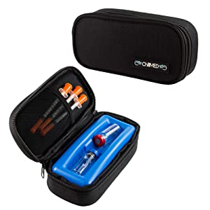 ChillMED Micro Cooler - Diabetic Insulin Vial Carrying Case Travel Pack (Black)