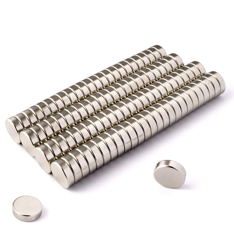 Power Magnet Store - Dischetti magnetici spessore 3 mm, diametro 10 mm, in neodimio Super potenti, circa 1,75 kg, forma rotonda., 10 mm x 3 mm