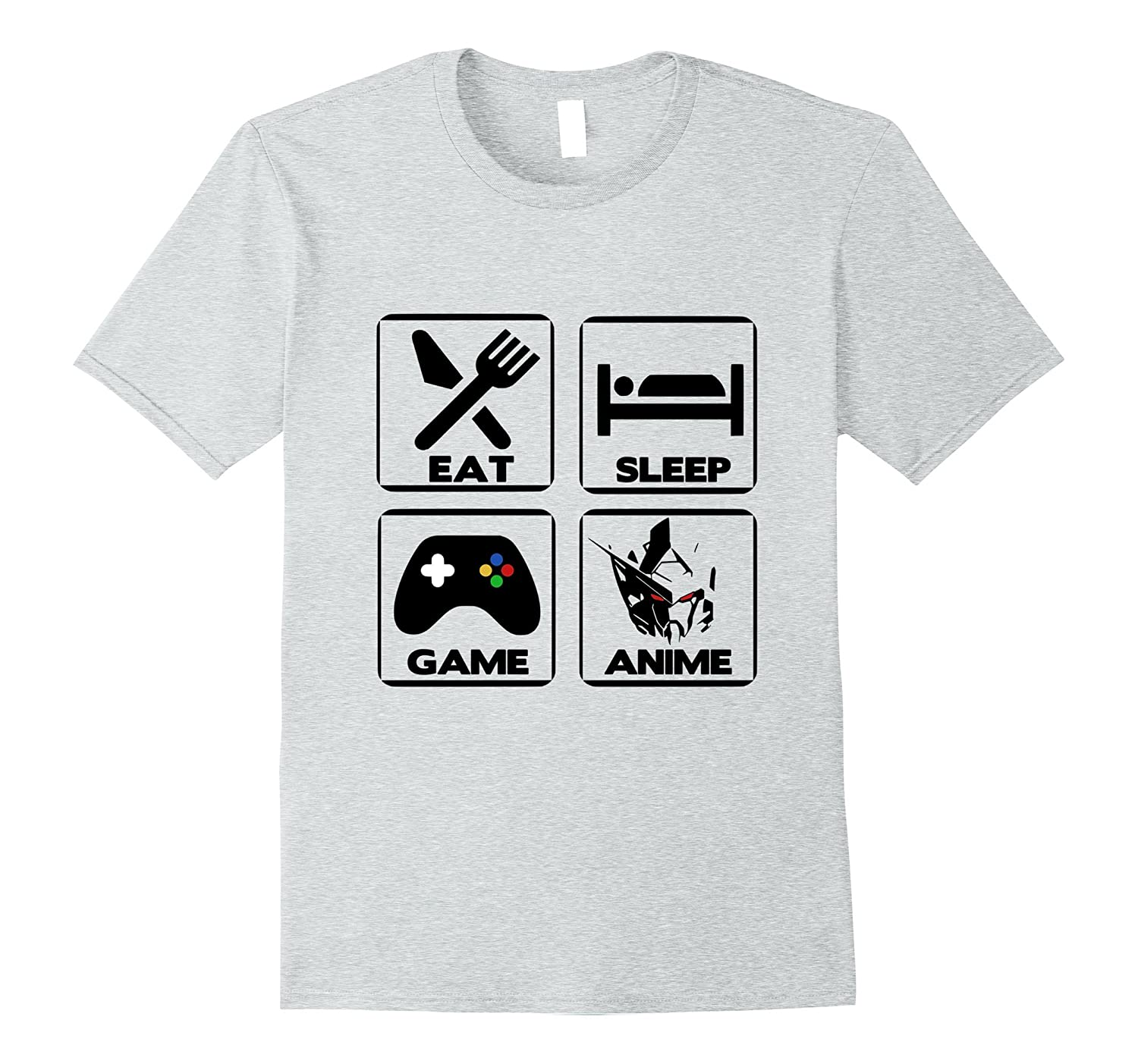 Anime & Gamer Shirt - Eat Sleep Game Anime T-Shirt-TH