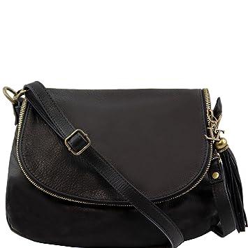 Tuscany Leather TL Bag - Soft leather shoulder bag with tassel ...