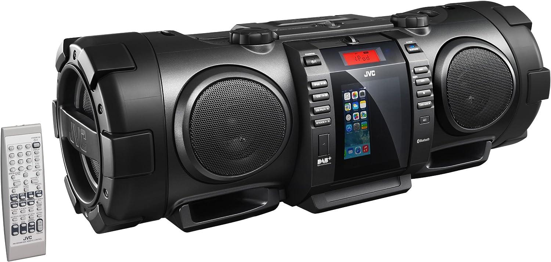 Negro, 1 Discos, 40 W, 8 cm, 13 cm, FM JVC RV-NB100B 40W Negro Sistema de Audio para el hogar Microcadena