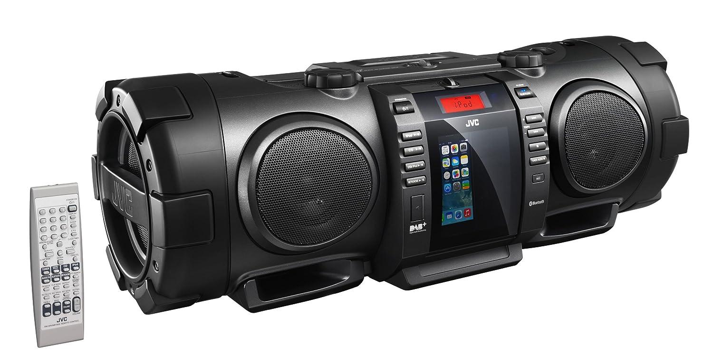 JVC RV-NB100B Bluetooth Portable CD Boomblaster with Lightning Dock and  DAB: Amazon.co.uk: TV