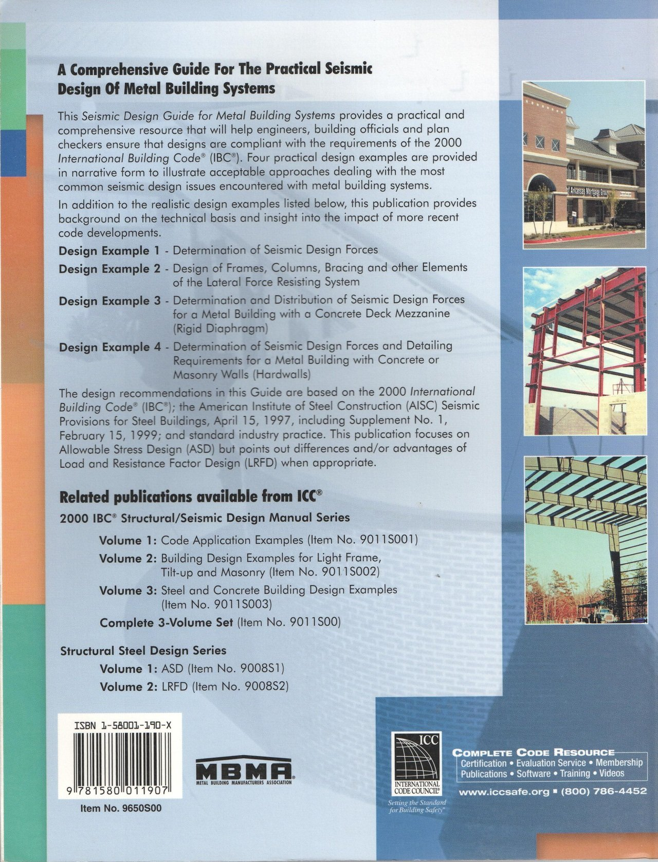 Seismic Design Guide for Metal Building Systems based on 2000 IBC: Drake,  Johnson, Murray Bachman: 9781580011907: Amazon.com: Books